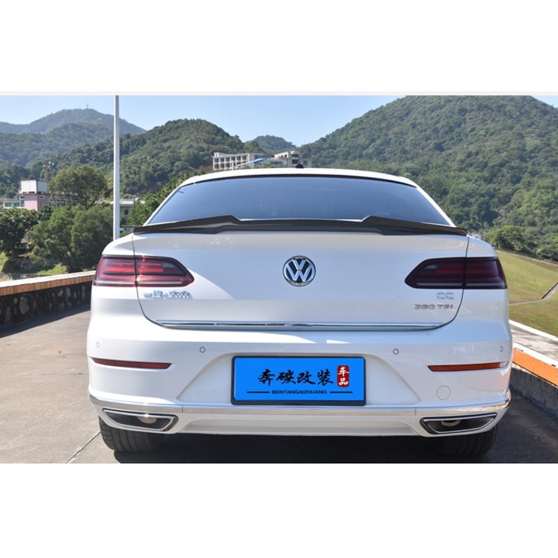 Para Volkswagen nuevo CC Spoiler 2018-2019 Material de ABS de alta calidad de coche de ala trasera Primer Color alerón trasero para nuevo Arteon spoiler