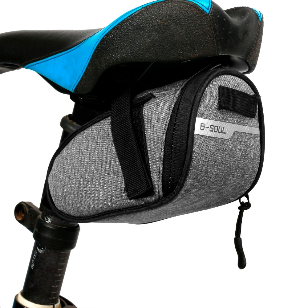 B-soul bolsa de sillín de bicicleta portátil impermeable bolsa para SILLÍN de ciclismo bolsas traseras de bicicleta equipo de ciclismo