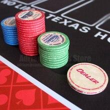 Retro Historia Americana Cerámico Fichas de Poker EPT Pokerstars 39*3mm 10g Profesional Poker Chips Set Doble Lado