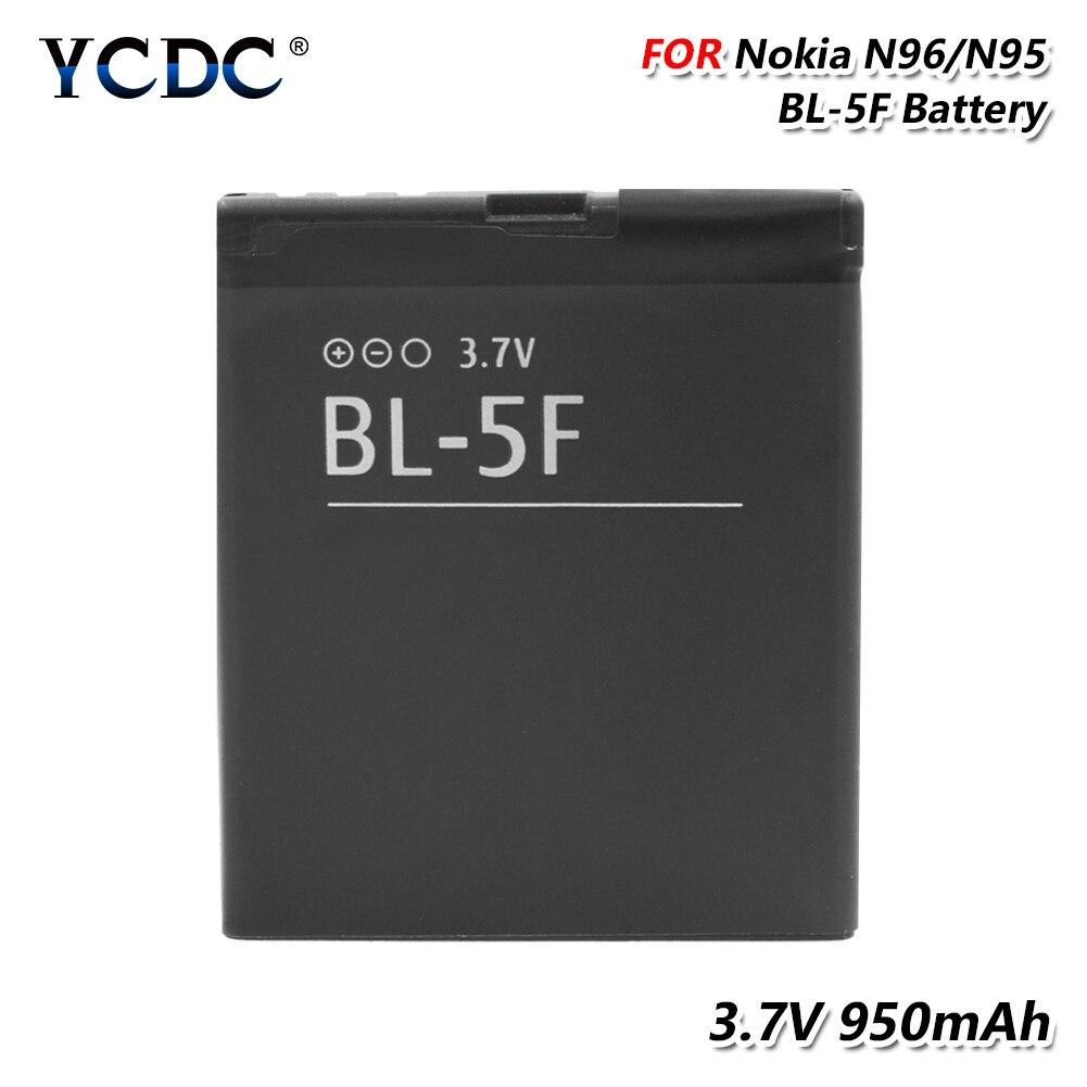 Batterie de téléphone 3.7V 950mAh BL-5F BL 5F BL5F Lithium Li-ion batterie Rechargeable pour Nokia E62/E65/N93I/N72/N93/N95/N96/N98/N99