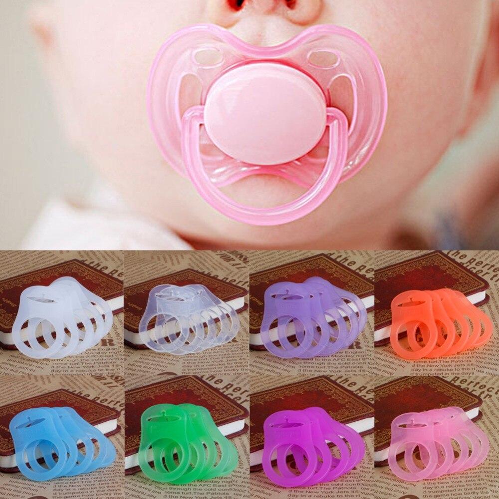 OOTDTY 5 uds Multi colores silicona bebé Dummy chupete titular Clip adaptador para anillos MAM