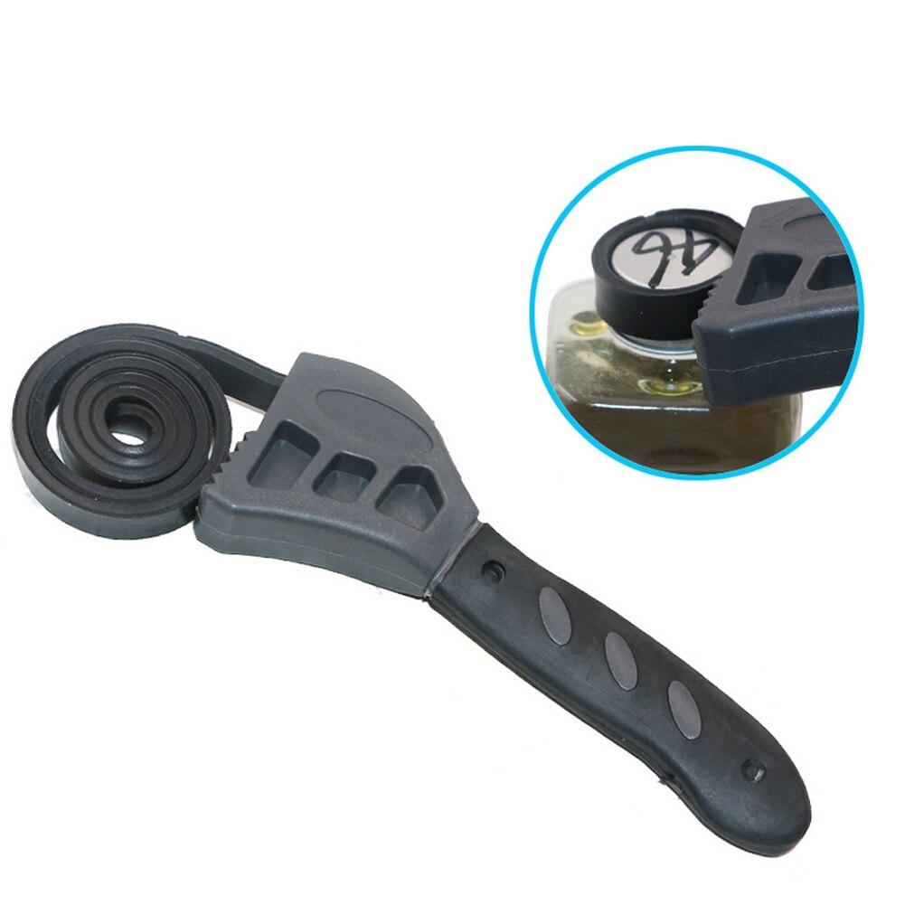 Llave de correa de goma multifunción de 50CM abridor de botellas ajustable filtro de aceite de coche Reparación de llave inglesa herramientas de mano yu-home