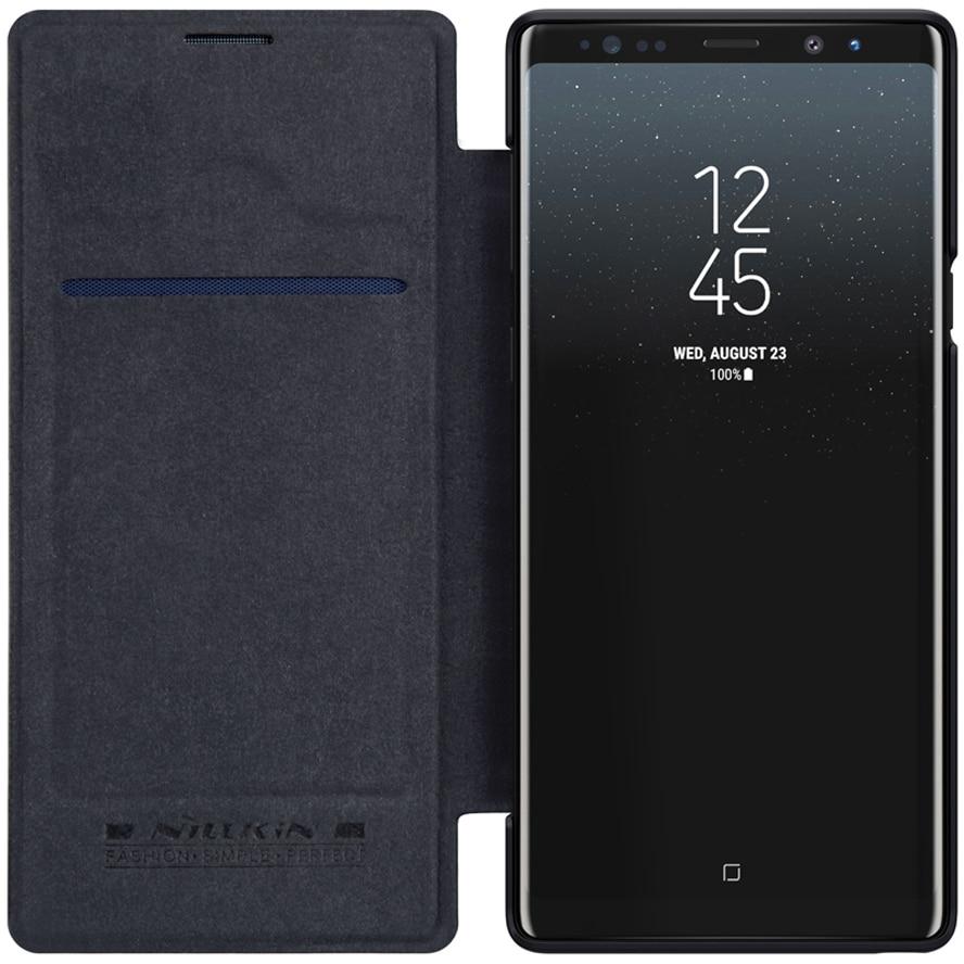 Funda para Samsung Galaxy Nota 9 nillkin Qin Series cubierta funda para Samsung Nota 9 Note9 libro funda de piel pu abatible