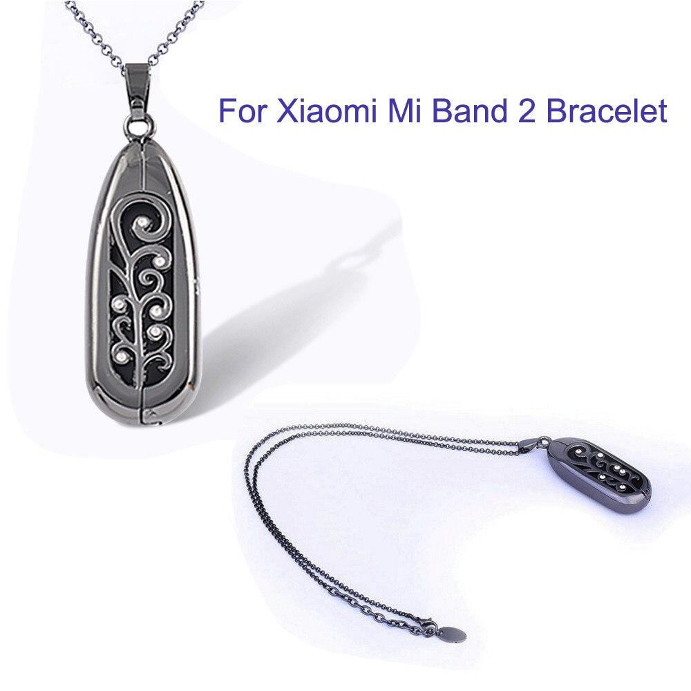 COLLAR COLGANTE de acero inoxidable Monitor de sueño y ejercicio para Xiaomi mi Band 2 pulsera colgante de acero inoxidable A.6