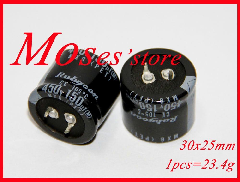 450v 150uf marca nueva 100% original capacidad electrolítica condensador Radial 30x25mm (2 uds)