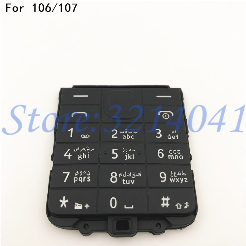 Original Main Menu English Or Arabic Keypad Keyboard Buttons Cover Case For Nokia 106 107