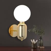 Modern Glass Wall Light Designer Glass Ball LED Wall Lamp Wall Mounted Lighting Fixture for Bedside Living Room Hallway