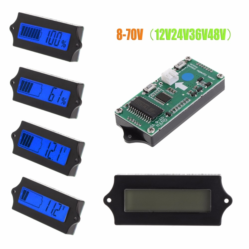 OOTDTY nuevo 8-70V azul LCD plomo ácido batería de litio capacidad Digital probador Detector de cantidad eléctrica #9A30146 #