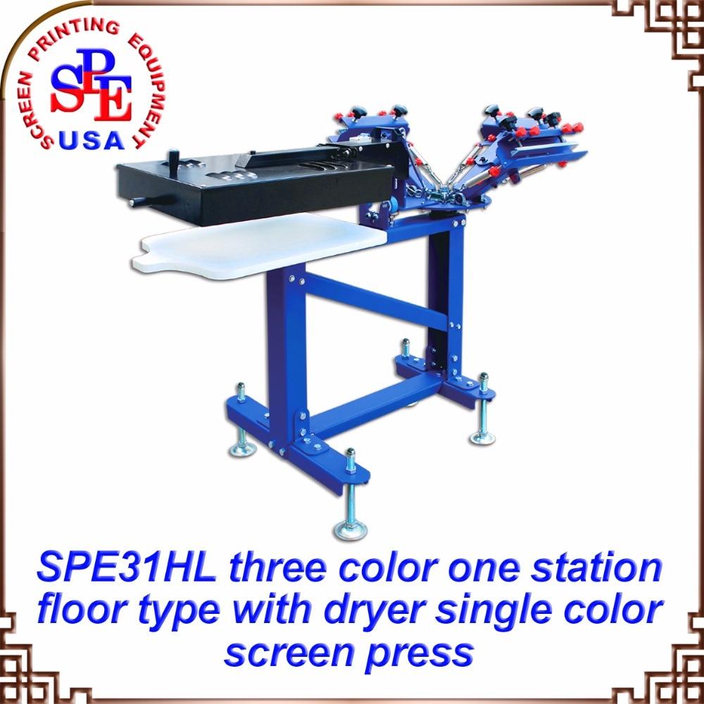 SPE31HL ثلاثة لون واحد شاشة محطة مع مجفف آلة الطباعة 220 فولت/110 فولت