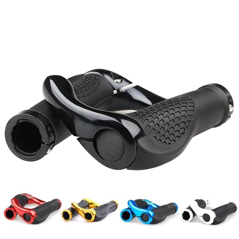1 пара рукоятка для руля велосипеда эргономичный анти-замок скольжения на ручке крышка из алюминиевого сплава резиновые ручки MTB Аксессуары для велосипеда RR7223