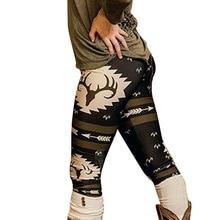 Fashion Legging Women Fashion Deer Christmas Print Bottoms Winter Warm Pants Plus Size 5XL Casual Skinny Elastic Fitness Legging
