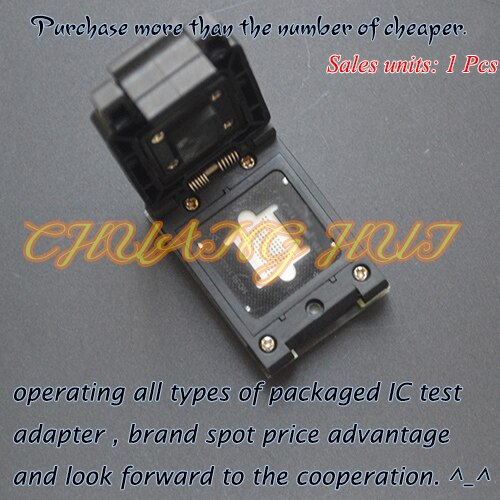 Detect FBGA107-0.8 NAND test socket FBGA107 BGA107 socket Pitch=0.8mm