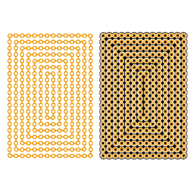 Retângulo camadas de corrente metal corte morre estênceis para diy scrapbooking artesanato decorativo gravando cartões de papel novo 2018 diecut