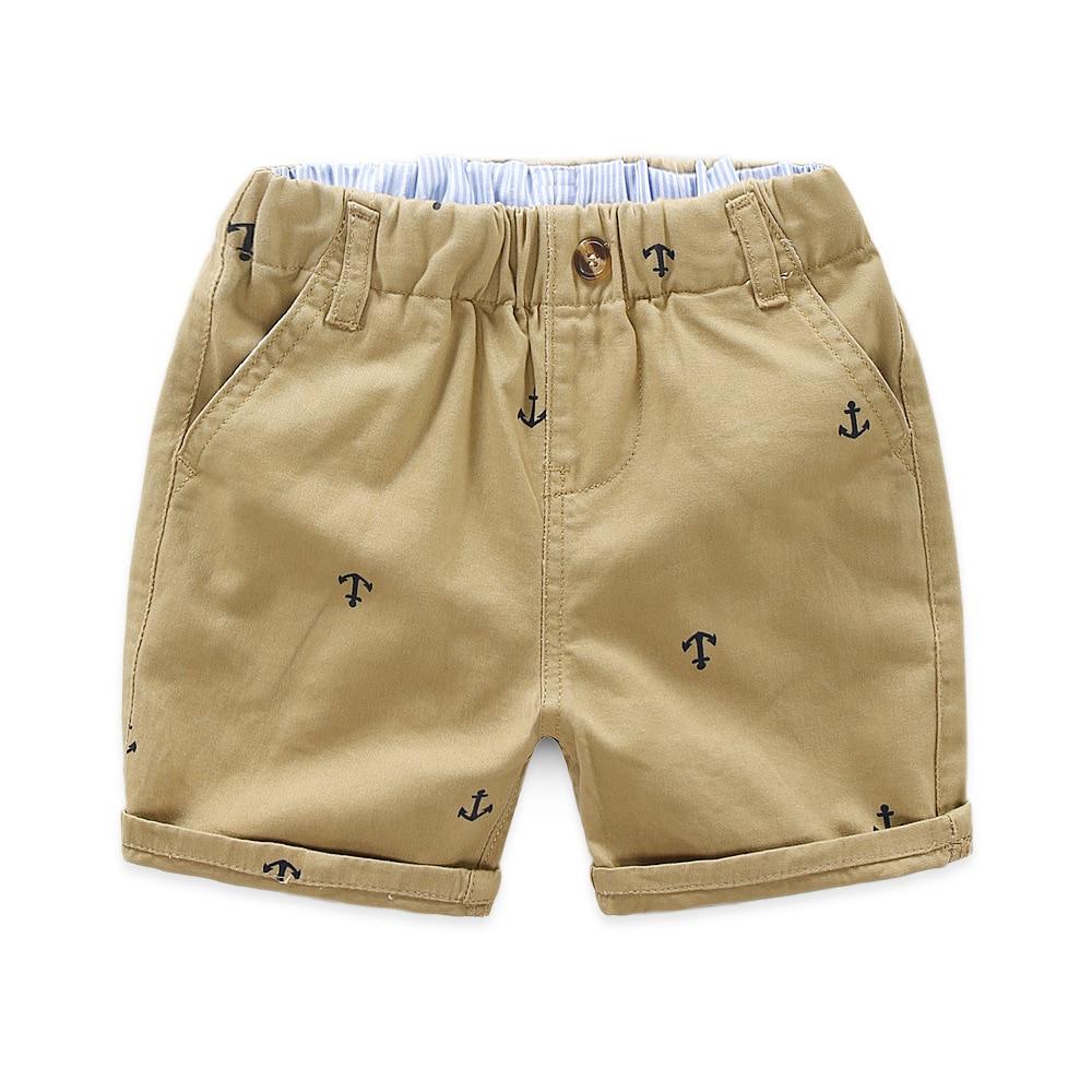 Pantalones de verano para niños, pantalones cortos holgados para bebés, tamaño 90 ~ 130, azul marino, khaqi 2020, ropa de playa tejida de algodón