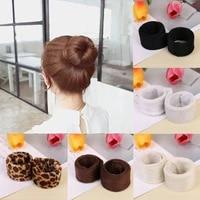 1 pc synthetic wig donut headband women hair accessories girl magic hair bun maker hair band french dish twist hairstyle tool