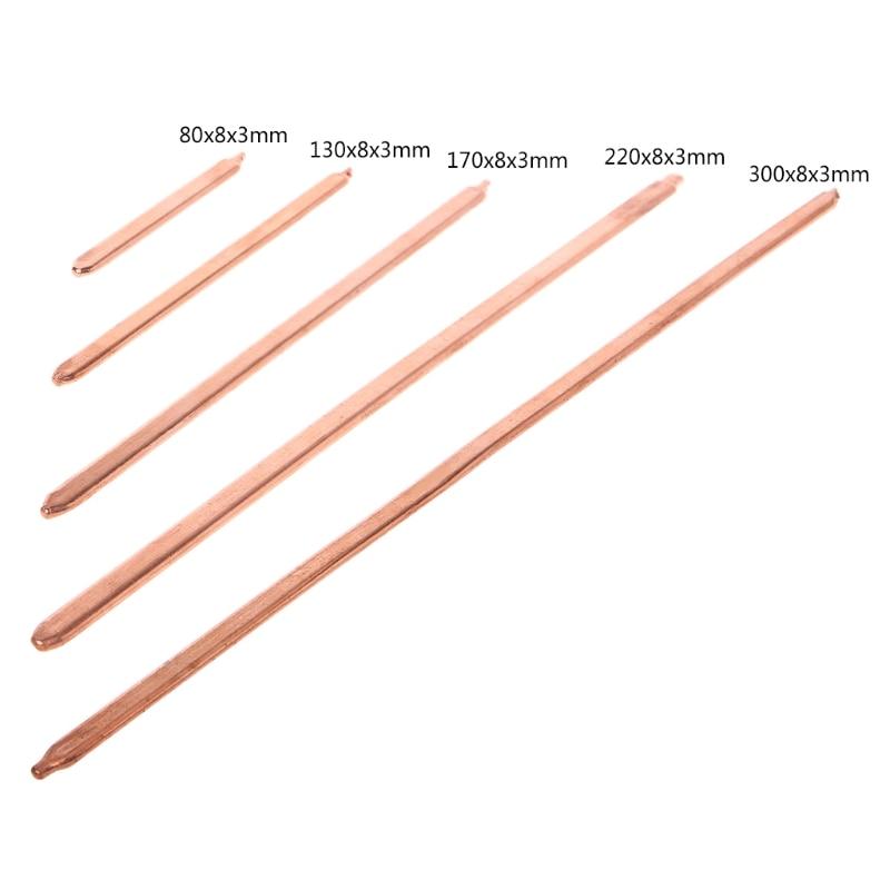 150 мм/200 мм/250 мм/300 мм труба из чистой меди трубка для компьютера ноутбука охлаждения ноутбука тепловая труба плоская или круглая
