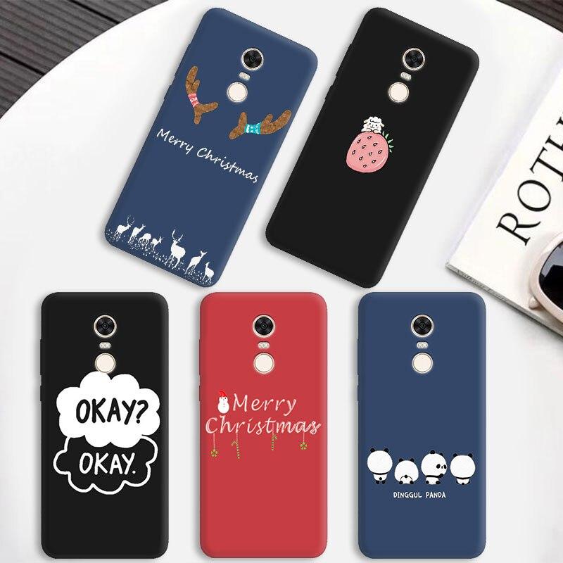 Luxury Christmas Phone Case for Xiaomi Mi A2 Lite 8 Lite 9 SE MIX 3 Slim Bag Matte Case for Redmi 5 Plus 5A 6 6A Case Cover