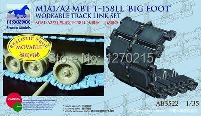 Bronco ab3522 1/35 m1a1/a2 T-158LL set grande foot viável faixa link conjunto