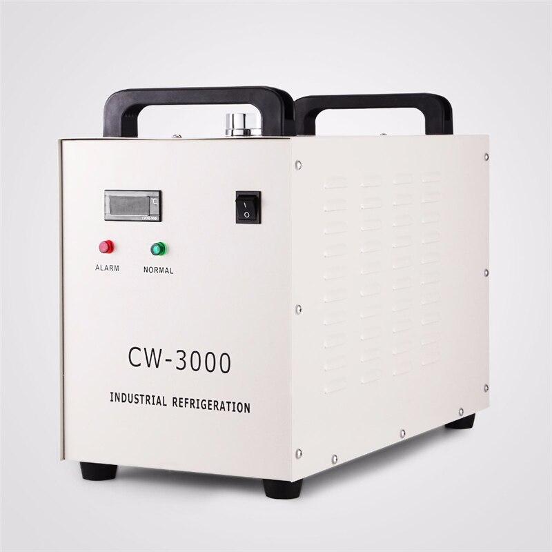 مبرد مياه الصناعية الحرارية CW-3000 مبرد مياه لآلة الحفر بالليزر باستخدام الحاسب الآلي 60 واط/80 واط