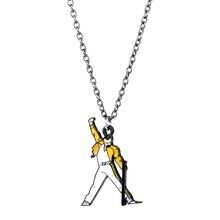 Collier à la mode avec le groupe de Rock, Queen, Freddie Mercury, musique, collier pendentif en métal, émail, bijoux, cadeaux pour Fans, livraison directe, 1 pièce