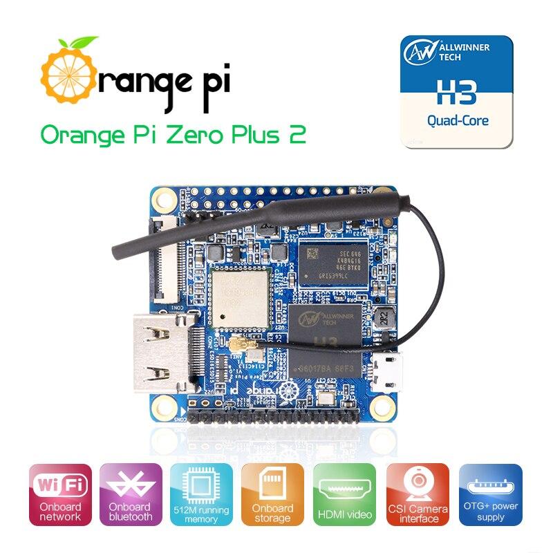 Orange Pi Zero Plus2 H3 Quad-core WIfi Bluetooth mini PC soporte Android linux más allá de Raspberry Pi