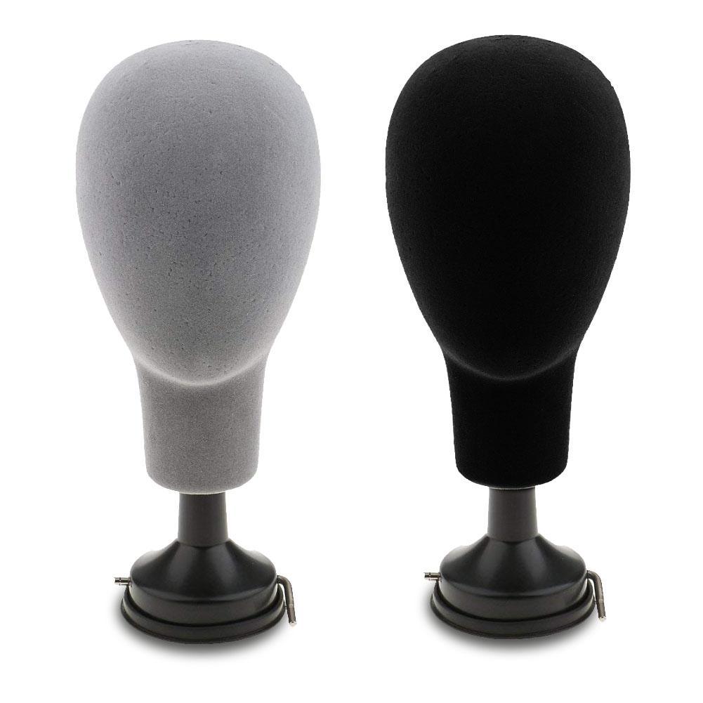 Cabeza de Maniquí de espuma de poliestireno con Base de 37 cm, modelo de peluca, tapas de gafas, soporte de exhibición