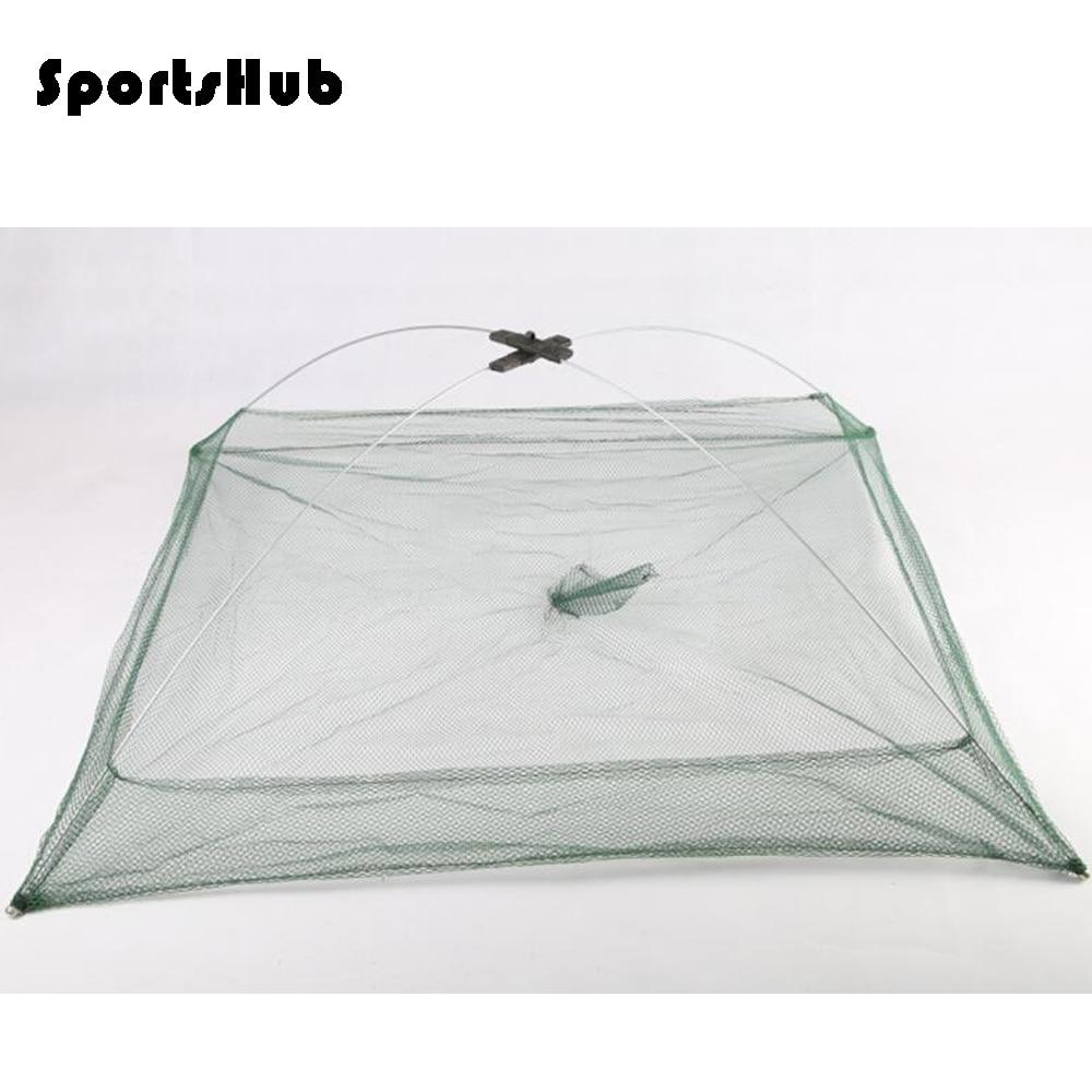 SPORTSHUB 3-tamaño portátil de tipo abierto de las jaulas de las redes de pesca red de peces langosta Gamba Catcher redes FT0064