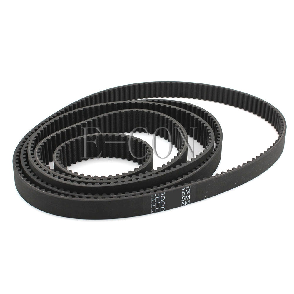 1pcs HTD5M Timing Belt 5M Belt Cogged Rubber Geared Closed Loop 10/15mm Wide 180-270mm Internal Perimeter