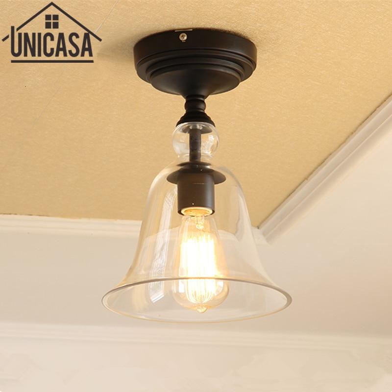 Modern Ceiling Lamp Flush Mount Lobby LED Lamp Porch Glass Pendant Lighting kitchen lights Glass clear home Art decoration