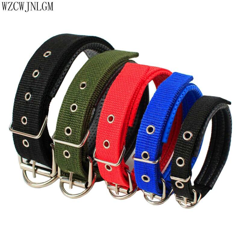 Suministros para mascotas de Nylon Collar de perro de tamaño ajustable collar de mascota personalizado cachorro perro caminador 10 piezas