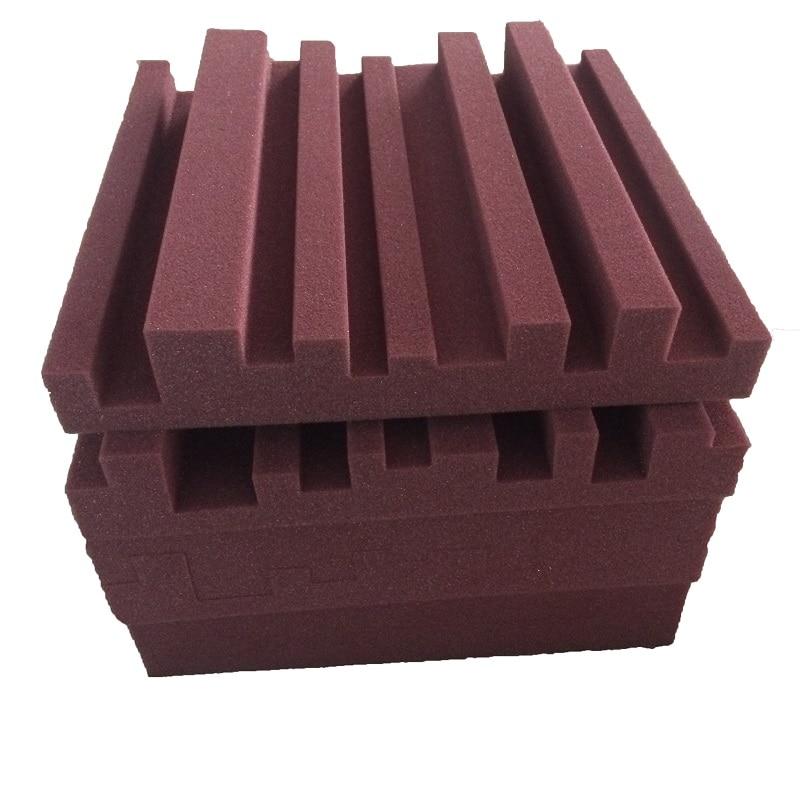 Acoustic Diffuser Panels Metro Burgundy Spong 30X30X5CM Sound Proof  Studio Foam
