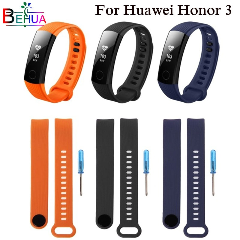 Sports Silicone Strap For Huawei Honor Band 3 smart bracelet Adjustment Band For honor band 3 belt w
