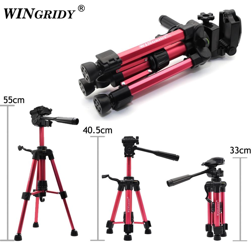 WINGRIDY-trípode Profesional para cámara Canon, Nikon, Sony, DSLR, Mini trípode portátil en vivo para cámara de teléfono