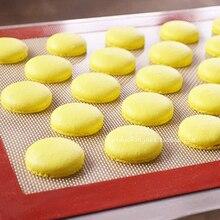 40*30cm Fiber de verre Silicone tapis de cuisson antiadhésif pâtisserie tapis Macarons Pad peut mettre le four CT152