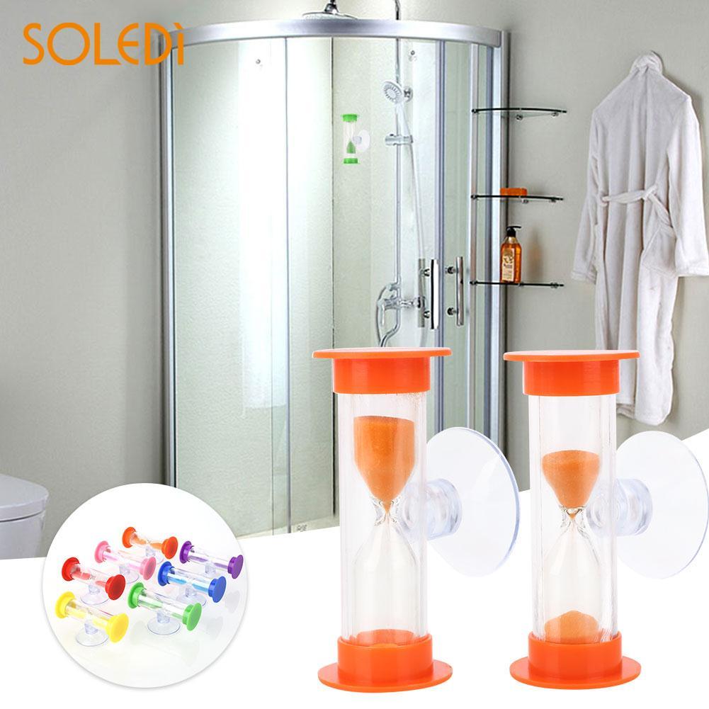 Temporizador de baño de 7 colores de 2,5*2,6*6 cm con temporizador de baño con ventosa temporizador de ducha de reloj de arena para Baño accesorios