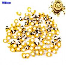 Autocollants Mini abeille Scrapbooking bricolage   100 pièces, décoration de pâques, décoration murale pour la maison, embellissements, décorations de fête danniversaire