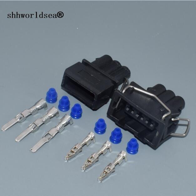 Shhworldsea 3 pin coche carcasa impermeable enchufe de 357, 972 de 763 arnés de cableado eléctrico conector de cable 357972763, 357, 972, 753 para VW