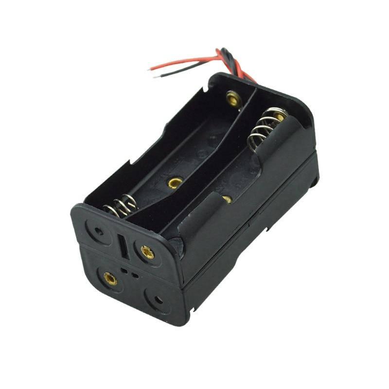 10 Uds 4 AA de la batería de 1,5 V soporte de cajas de almacenamiento para DIY prueba experimental en cascada