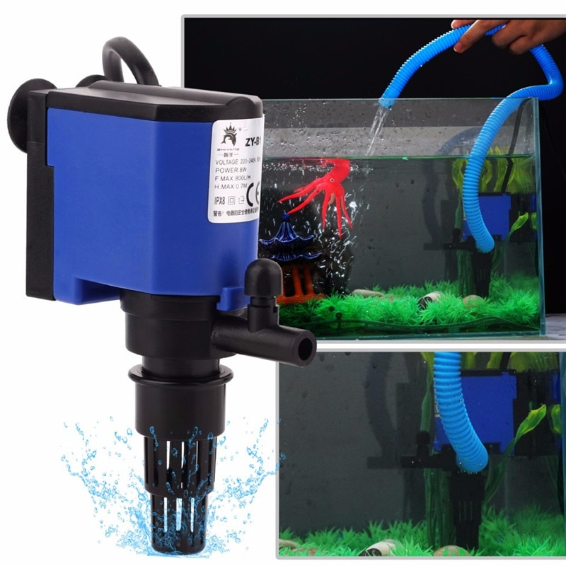 Аквариумный фильтр насос 3 в 1 внутренний аквариумный фильтр воздушный насос для аквариума бесшумный кислородный воздушный насос аксессуар...