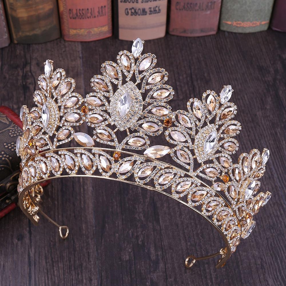 Corona De boda para el cabello, corona De Cristal, Tiaras y Coronas...