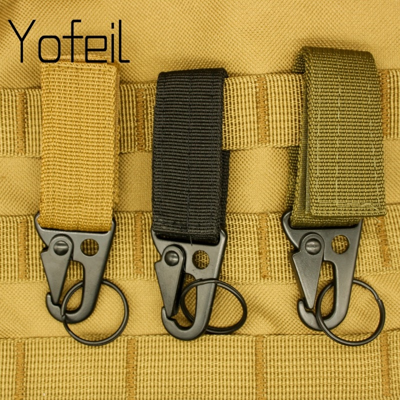 AliExpress - 1PC  Carabiner High Strength Nylon Key Hook MOLLE Webbing Buckle Hanging System Belt Buckle Hanging Camping Hiking Accessories