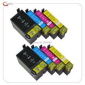 8PCS compatible ink cartridges 27XL for Epson WorkForce Pro WF-3620DWF WF-3640DTWF WF-7110DTW WF-7610DWF WF-7620DTWF printer ink