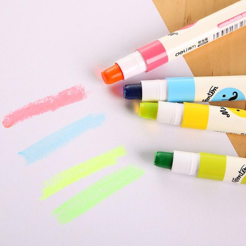 Marcadores de arte rotativa sólido highlighter vara caneta chancery hailaiter papelaria escola arte classe eaxm revisão marcação deli s607