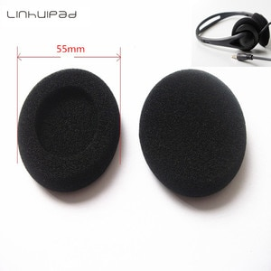 Linhuipad 55mm Headphone replacement foam sponge pads Headset covers earcushions for all 5.5 CM headset 5 pair/lot Free shipping