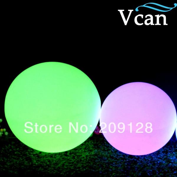 Big Size white plastic 16colours change remote control LED Light Ball outdoor 40cm VC-B400