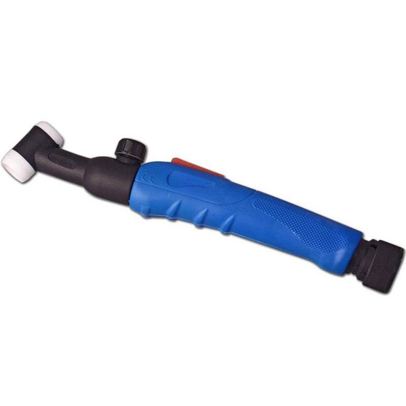 WP-20FV Flexible y válvula soplete de soldadura TIG cabeza del cuerpo WP20 200 Amperios refrigerado por agua manija de la UE