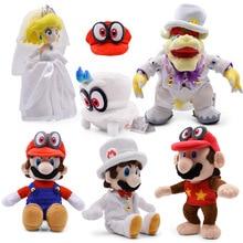 Anime Super Mario Odyssey Bros robe de mariée Bowser Koopa Cappy pêche Peluche poupée Peluche douce Peluche jouet cadeau de noël