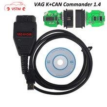 VSTM VAG K PUÒ Comandante 1.4 obd 2 OBDII Cavo Diagnostico Scanner tool Per V-W /S-mangiare/S-k-oda/A-D Vag Commander