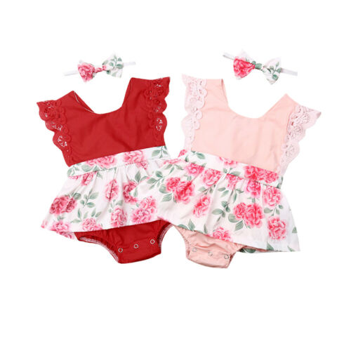 Niños bebé niña sin mangas mono ropa