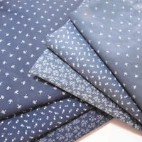 fabric skin friendly cotton twil blue print flower for sewing home textile child dress making woven soft fabric by half meter